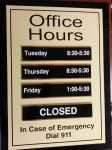 Office Hours Sign (With Removable Panels)