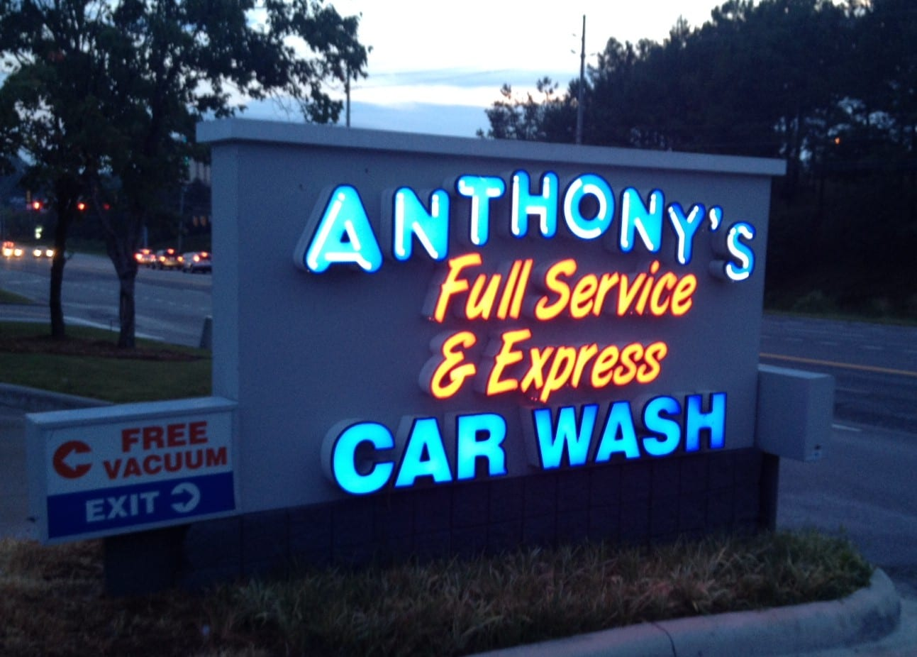 Lighted Car Wash Signs