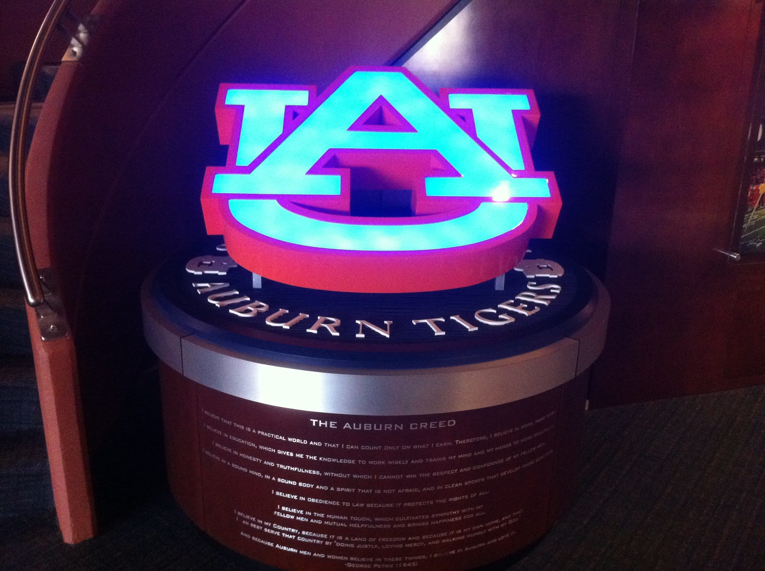 Auburn University Logo Monument (custom design, museum quality)